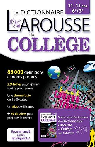 Larousse dictionnaire du Collège 2 en 1