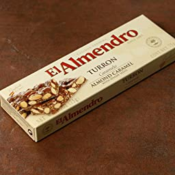 El Almendro Turron Almond Caramel with Sesame Seeds, 2.5-Ounce