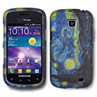 IMAGITOUCH(TM) 4 Item Combo For SAMSUNG Illusion Galaxy Proclaim i110 (Verizon Straight Talk) Rubberized Design Hard Shell Case Cover Phone Protector Faceplate - Van Gogh's Starry Night Arts Painting (Stylus Pen, ESD Shield Bag, Pry Tool, Phone Cover)