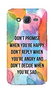 AMEZ dont promise when you are happy Back Cover For Samsung Galaxy J5