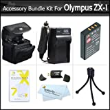 Accessories Bundle kit For Olympus XZ-1 SZ-10 SZ-20 SZ-30MR SP-800UZ SP-810UZ SZ-11, TG-860 Digital Camera Includes Extended (1000maH) Replacement LI-50B Battery + Ac/Dc Charger + Carrying Case + More
