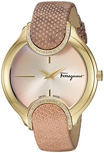 Salvatore-Ferragamo-Womens-Signature-Quartz-Stainless-Steel-and-Leather-Casual-Watch-ColorPink-Model-FIZ050015