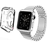 Apple Watch Case With Screen Protector and Cleaning Cloth Included - 42mm Vittle TPU Crystal Clear Case for Apple Watch