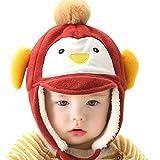 Happy Cherry - Gorro Gorra Sombrero Caliente de Invierno para Beb�s ni�os ni�as recien nacidos protector de orejas - Marr�n 3-12 meses