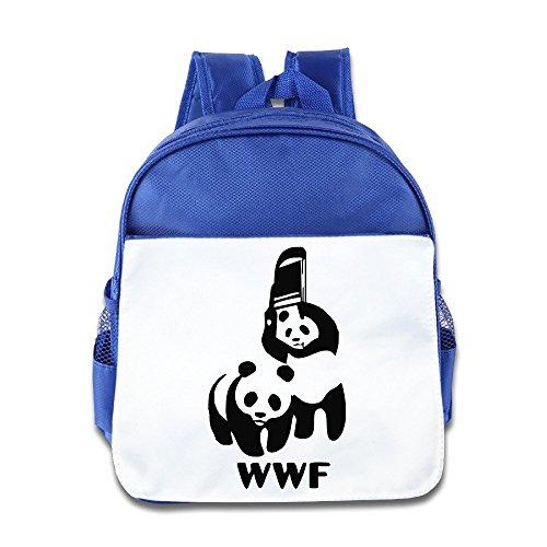 [Logon 8 WWF PANDA WRESTLING SAVE THE PANDA Cute Baby Boys Girls Tollder School Hiking Backpacks Bags] (Piggy Back Costume Baby)
