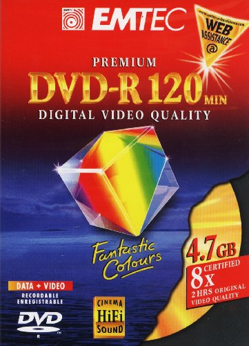DVD-R Emtec 4.7GB 8x DVD Videobox