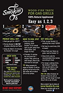 Smokin-O's BBQ Smoke Rings - Wood-fire Taste for Gas Grills, 100% Applewood from Real Wood® - USA