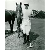 Vintage Photo- Polo player holding horse