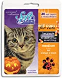 Feline Soft Claws 40-Pack Pet Halloween Colors Nail Cap Kit, Large, Black and Orange