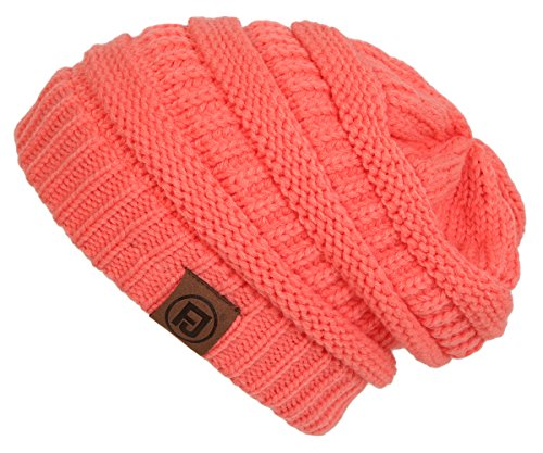 F1-6020a.52 Solid Color Beanie - Coral (Women Color Jeans compare prices)