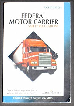 Federal Motor Carrier Safety Regulations Pocket Edition Books