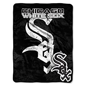 MLB Chicago White Sox Micro Raschel Plush Throw Blanket, Trip Play Design by Northwest