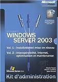 echange, troc Charlie Russel, Sharon Crawford - Coffret Windows Server : Kit d'Administration tomes 1 et 2