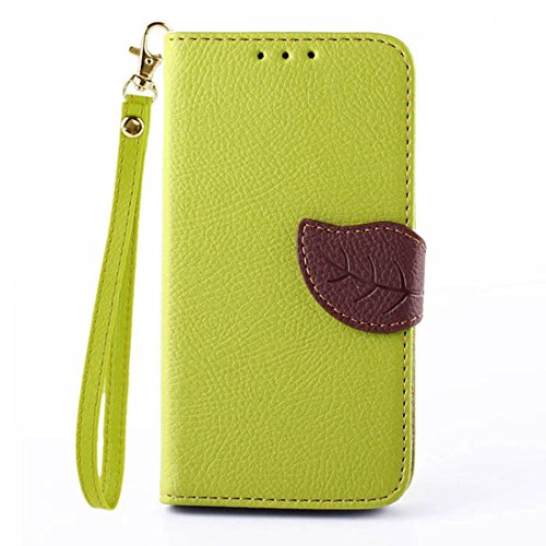 Willtoo(Tm) Luxury Flip Leather Pouch Wallet Case Cover Skin For Sony Xperia E3 (Green)