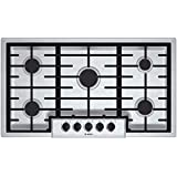 """Bosch NGM5655UC 500 36"""" Stainless Steel Gas Sealed Burner Cooktop"""