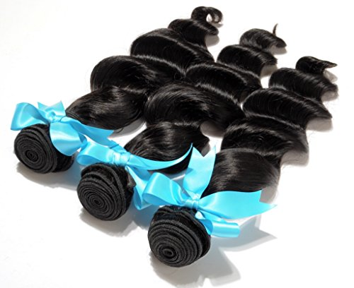 Danolsmann-Hair-100-Virgin-Indian-Natural-Loose-Wave-Human-Hair-Weave-Extension-Unprocessed-3-Pack-Bundle-Black-300g