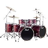 Pearl Export Double Bass 8-Piece Drum Set Black Cherry Glitter