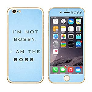 Dress My Gadget I am the Boss Designer Front & Back Tempered Glass for iPhone 6s Plus