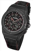 TW Steel Unisex-Armbanduhr CEO TECH Chronograph Quarz Leder TWCE4008