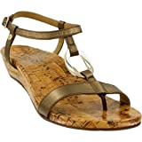 Orthaheel Orthaheel By Vionic Women Martinique Leather Wedge Sandals (9 B(M) Us, Bronze)