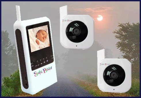 Interference Free 2 Camera Auto Switching Digital Monitor From Safe Baby. Auto Switching with 8 Camera Capability