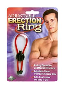 Adjustable Erection Ring, Black and Red