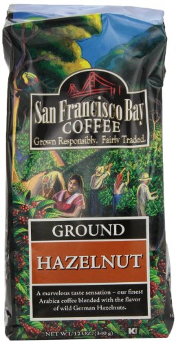 San Francisco Bay Coffee Ground Hazelnut Coffee, 12-Ounce Bags (Pack of 3)