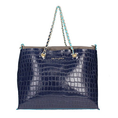 Borsa Byblos Shoping Easywinter Coccodrillo blu art. 665900026