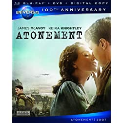 Atonement [Blu-ray + DVD + Digital Copy] (Universal's 100th Anniversary)
