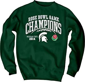 Michigan State Spartans NCAA 2014 Rose Bowl Champions Crew Sweatshirt Green