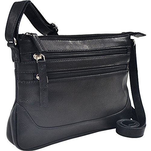 r-r-collections-soft-drum-dyed-leather-3-zip-crossbody-black