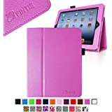 Fintie Folio Case for iPad 4th Generation with Retina Display, the New iPad 3 & iPad 2 Slim Fit Stand Smart Cover with Auto Sleep / Wake Feature - Violet