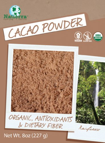 Natierra Cacao Powder, 8 Ounce