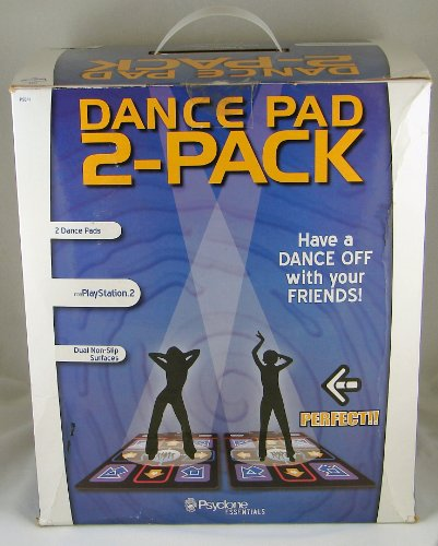 DDR Dance Dance Revolution 2 Pack Dance Pads for Playstation 2 PS2