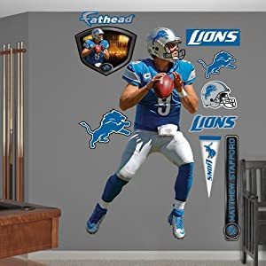 NFL Detroit Lions Matthew Stafford Home Wall Graphics by Fathead