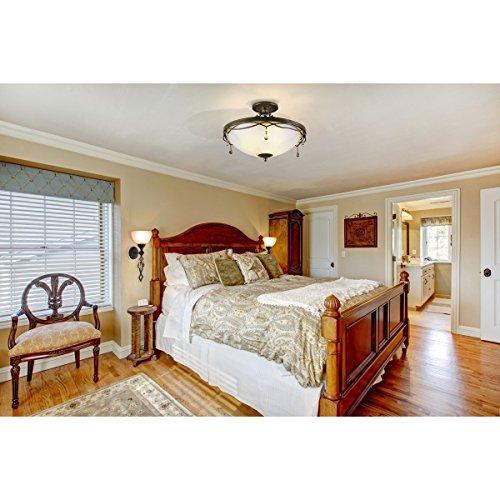 applique mural bougie style rustique classique antique raffiné support en fer forgé a la main plafonniers en verre décoré en cristal, applique salon ou chambre ampoule non-incl 1 x 60W E27 230 V