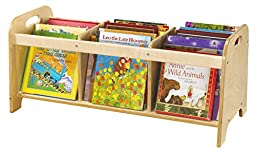 Childcraft 1357081 Clear View Book Browser, Birch Veneer Panel, UV Acrylic, 35-3/4\