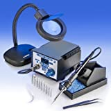 """X-TRONIC"" MODEL #4010-XTS - 4000 SERIES - SMD - ESD SAFE - NEW Centigrade/Fahrenheit Switch - Digital Soldering Iron Station - 10 SOLDERING TIPS - 1 EXTRA HEATING ELEMENT - 1 ANTI-MAGNETIC TWEEZERS - 1 5X MAGNIFYING LAMP!!!"