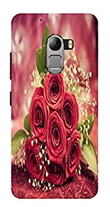 RED ROSES PRINTED BACK CASE COVER FOR LENOVO K4 NOTE