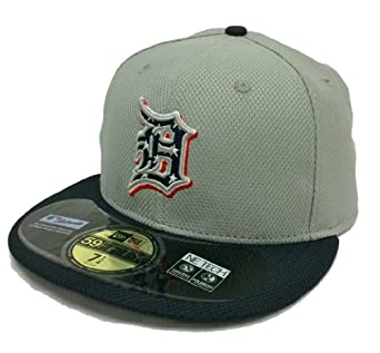 New Era 59Fifty Independence On-Field Detroit Tigers Gray & Navy Fitted Cap by New Era