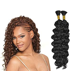deep wave bulk micro braiding human hair 16