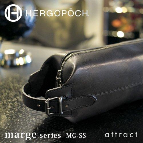 HERGOPOCH エルゴポック Marge マージ Basked Leather バスクドレザー 2way クラッチバッグ ボディバッグ MG-SS カラー:ブラック ビジネス カジュアル