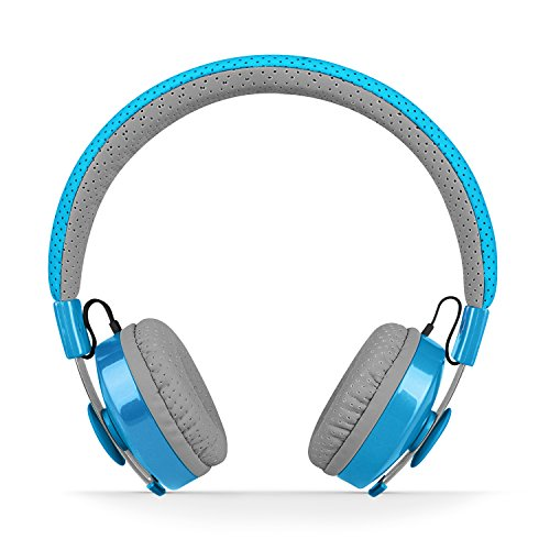 LilGadgets Untangled Pro Premium Children's Wireless Bluetooth Headphones with SharePort - Blue