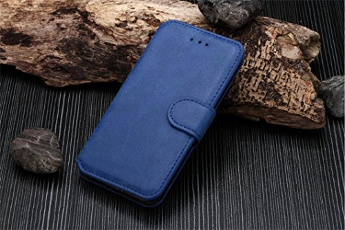 Iphone 6 Phone Case Borch Fashion Multi-Function Wallet For Iphone 6 Case Luxury Retro Leather Carrying Case Cover With Credit Id Card Slots/ Money Pockets Flip Leather Case For Iphone 6 5.5 Inch Borch Screen Protector (Blue)