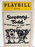SWEENEY TODD - PLAYBILL - APRIL 1979  THE DEMON BARBER OF FLEET STREET