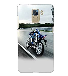 PRINTSWAG RACING BIKE Designer Back Cover Case for HUAWEI HONOR 7