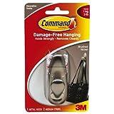 Command Forever Classic Metal Hook, Medium, Brushed Nickel, 1-Hook (FC12-BN-ES)