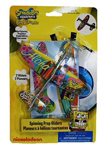 Spongebob Squarepants Spinning Prop Glider (2 Gliders Per Package) - 1