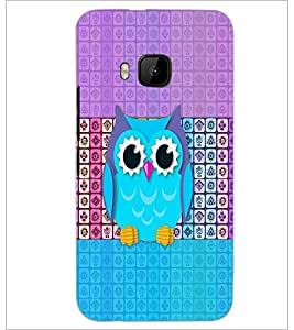 PrintDhaba Owl D-5893 Back Case Cover for HTC ONE M9 (Multi-Coloured)
