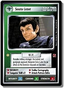Star Trek Ccg 1e Bog Blaze Of Glory Senator Letant Gr96